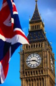 Londra e bandiera
