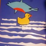 La paperella 1 incontra un delfino