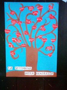 l'albero dei cuori gentili trovati nella scuola