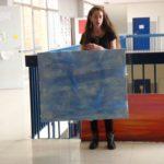 Claudia racconta le sue opere come ispirazione al lavoro