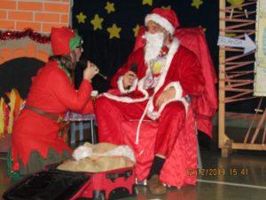 Folletta Benedetta parla con Babbo Natale