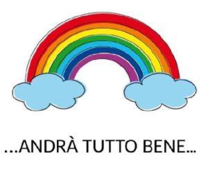 arcobaleno andrà tutto bene